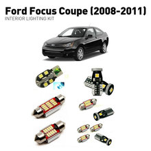 Led interior lights For Ford focus coupe 2008-2011  12pc Led Lights For Cars lighting kit automotive bulbs Canbus цена