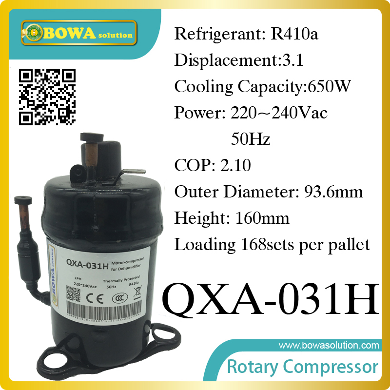 R410a compressor (650W cooling capacity) suitable for refrigerator and freezer r410a compressor 1250w cooling capacity suitable for dehumidifiermachine or air dryer machine