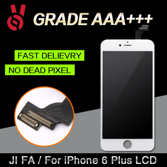 10PCS/LOT  Quality AAA No Dead Pixel LCD For iPhone 6 Plus LCD Touch Screen Digitizer Assembly Display Replacement Free Shipping