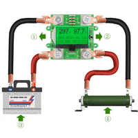 300 v 100a dc digital voltímetro amperímetro medidor de tensão bateria do carro capacidade volt atual wattmeter detector fonte alimentação testador