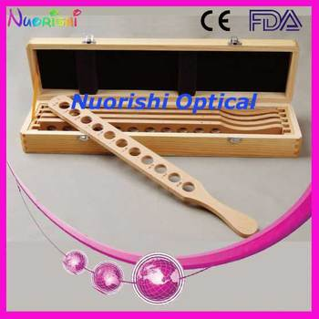 E03-2 Retinoscopy Trial Board Lens Rack Set Kit 4 Wooded Bars Wooden Case Packed Lowest Shipping Costs