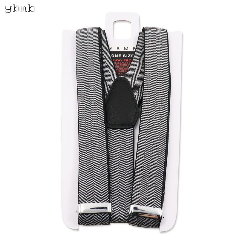 YBMB Fashion Shirt Suspenders 25mm Width 3 Clips Y Shape Unisex Fully Adjustable Braces Synthetic Leather Rivet Novelty in Men 39 s Suspenders from Apparel Accessories