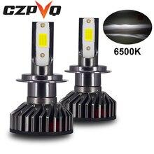 CZPVQ Mini Car Headlight H7 LED H4 H1 H8 H9 H11 9005 HB3 9006 HB4 4300K 5000K 6500K 8000K 25000K Lamp Fog Light 80W 10000LM