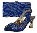 Royal Blue African Shoes And Matching Bags Italian 2017 Fashion Italian Matching Shoe And Bag Set Women Pumps Heel 281