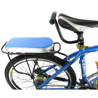 Children Safety Cycling Set Bike Back Seat Cushion Armrest Rear Feet Pedals Footrest Bicycle Back Seat