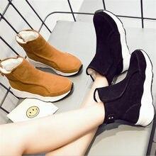 9f6c3d7e0 Новое поступление зимние сапоги высокого качества Модные ботильоны на  молнии Натуральная кожа модные на платформе зимняя