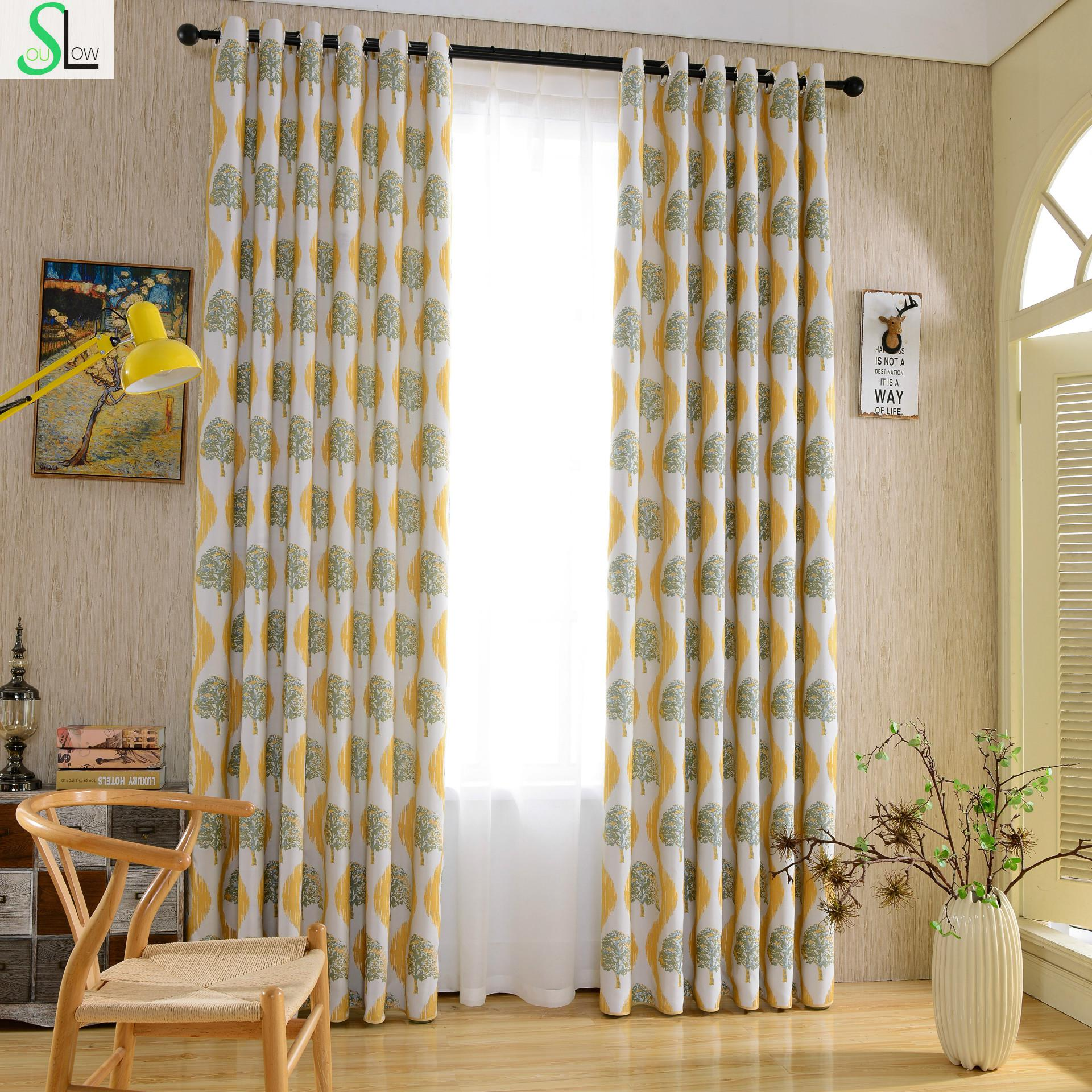 Slow Soul New American Country Cotton Jacquard Curtain