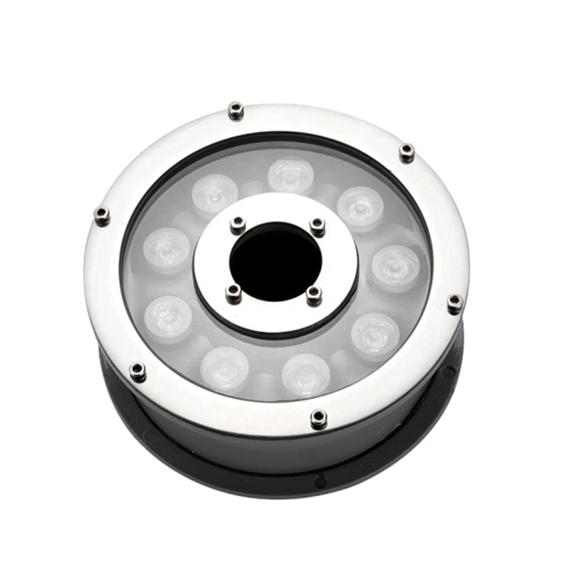 ФОТО 12V input RGB LED underground light 6W 9W Kung stainless steel outdoor buried recessed floor lamp Waterproof IP68 for pool