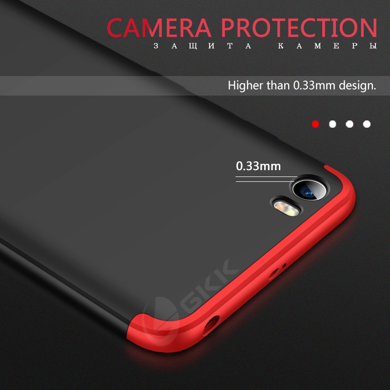 GKK luxury Case for xiaomi redmi go case 360 Full Proction Shockproof Hard PC Matte Phone Cover For Redmi GO Case Fundas coque in Fitted Cases from Cellphones Telecommunications