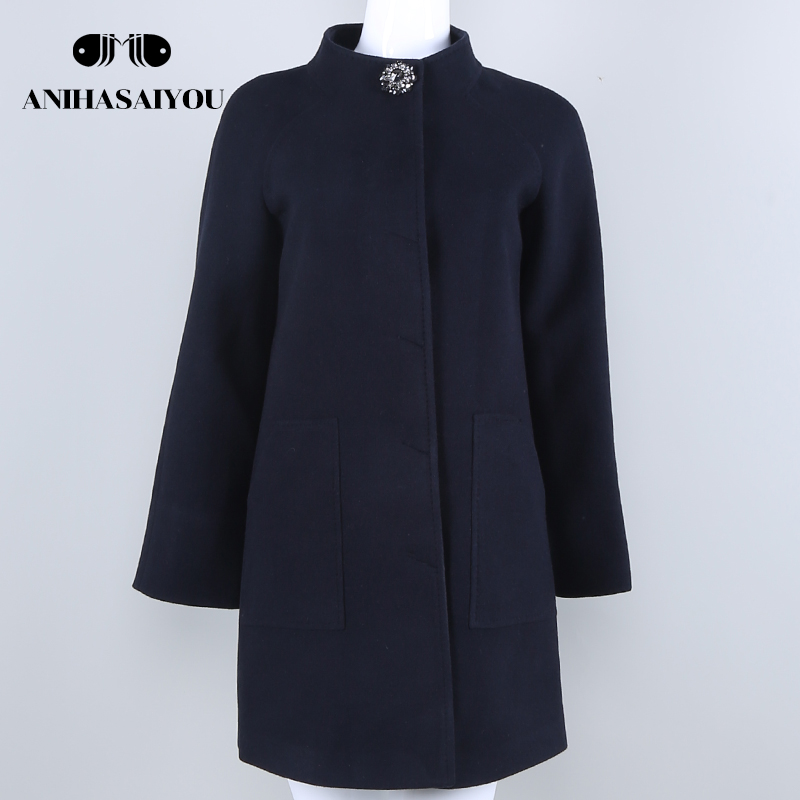 2018 High-end fashion woolen coat woman winter woolen coat women Brand quality cashmere coat womens Fashion Jacket Outwear