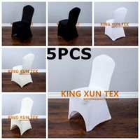 195GSM Thick Lycra Spandex Chair Cover Banquet Wedding Stretch Chair Cover Event Dining Decoration