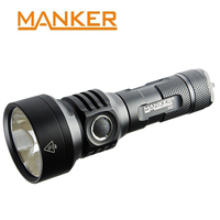 MANKER U22 1500 lumen CREE XHP35 HI LED Flashlight Pocket Thrower Powerful Searchlight Type C USB Charging 21700 Torch Outdoor