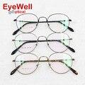 Venta caliente de la nueva llegada ronda retro marco óptico de alta calidad memoria de aleación de gafas de metal para los hombres y las mujeres más populares 902
