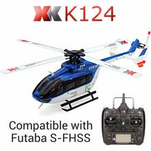 Original XK K124 EC145 6CH Brushless motor  3D 6G System RC Helicopter RTF Compatible with FUTABA S-FHSS