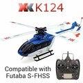 Original XK K124 EC145 Sistema RC Helicopter RTF 6CH Brushless do motor 3D 6G Compatível com FUTABA S-FHSS