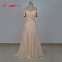 Vestidos De Fiesta Time limited Real Elegant Mother Of The Bridal Dresses Off Shoulder Short Sleeve Party 2017 Chiffon Casual