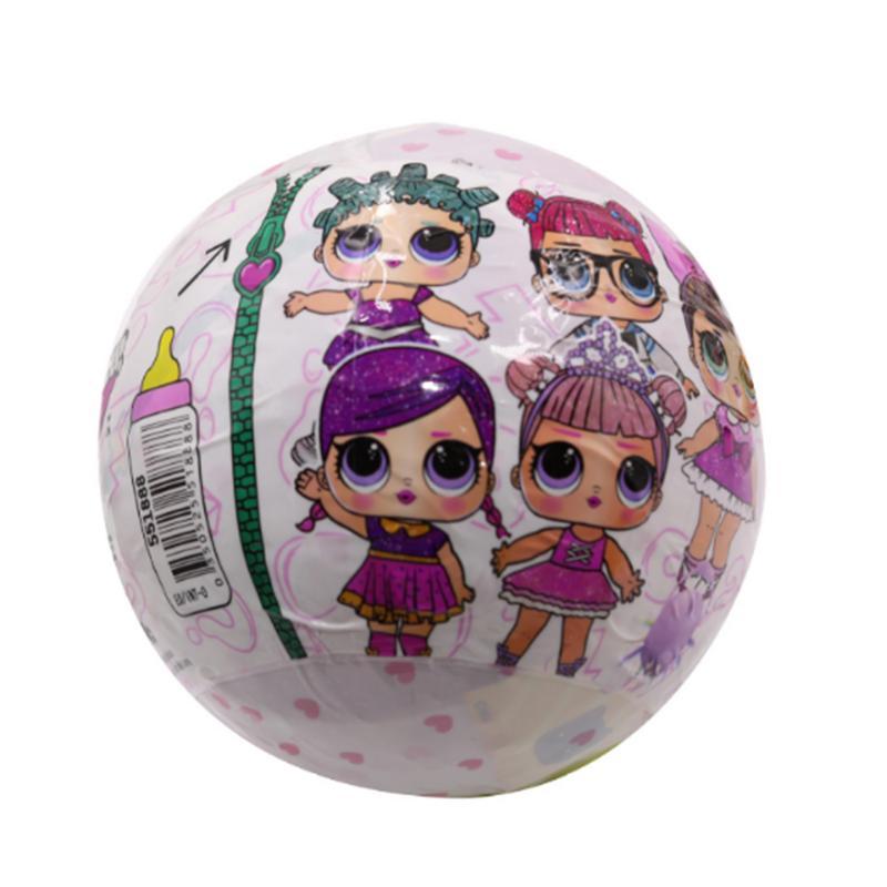Divertido huevos bola Pop nuevo muñecas huevos sorpresa Bola brillante polvos juguetes a ver si durante niños chica chico cumpleaños día de Navidad regalo