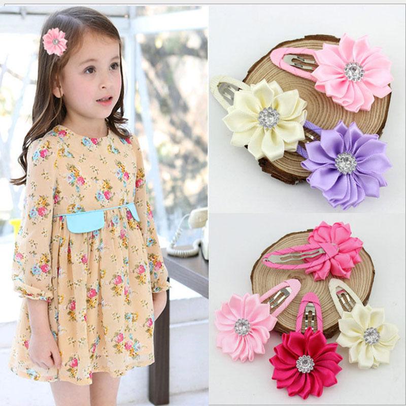baby&kids hairpins children cute polygonal flower hair clips Girls hairwear hair accessories