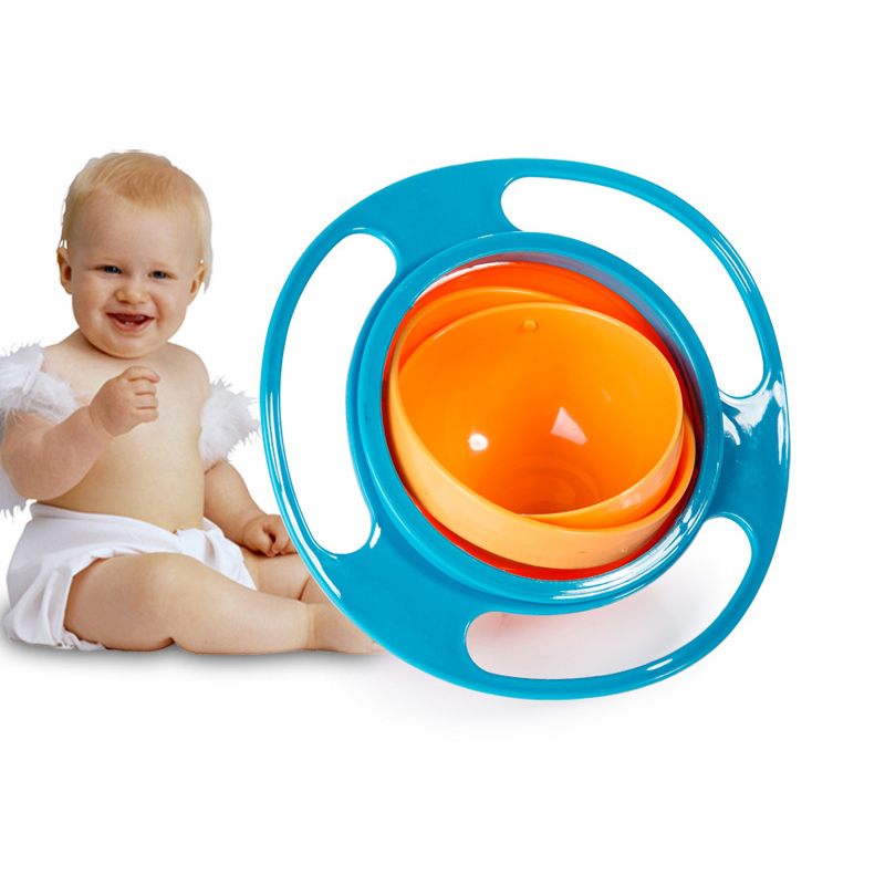 Baby Safe Non-toxic, High Temperature Resistant, Lovely Shape, Durable 360 Degree Swivel UFO Balance Bowl