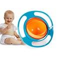 El Nuevo Bebé No Tóxico Seguro, Resistente A altas Temperaturas, Forma encantadora, Durable 360 Grados Giratoria UFO Equilibrio Tazón