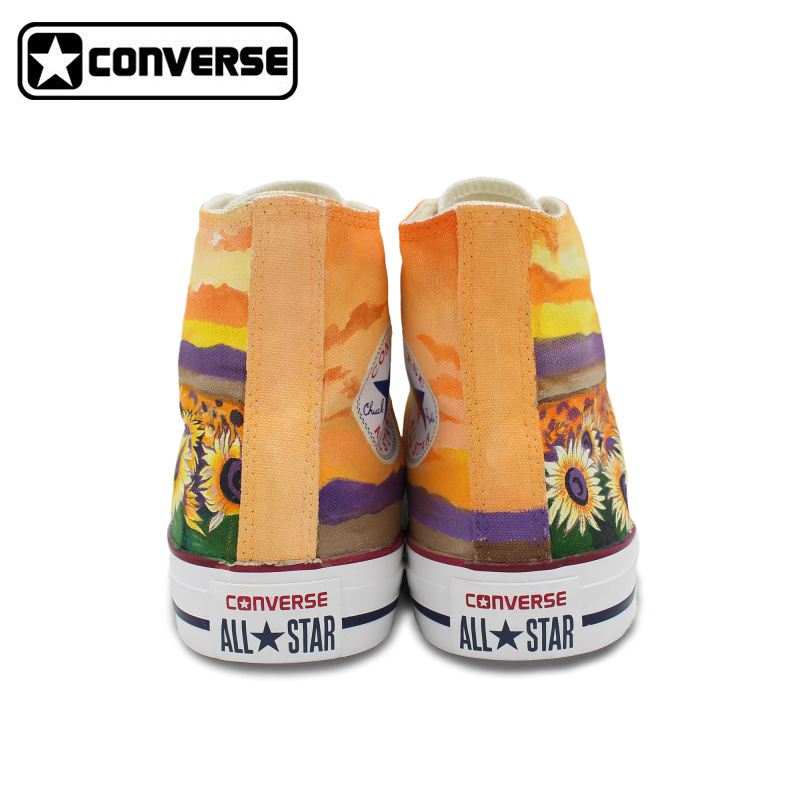 7016468aacd0 Woman Man Converse All Star Custom Sunflower Flower Hand Painted Shoes High  Men Women s Sneakers Skateboarding Shoes Gifts-in Skateboarding from Sports  ...