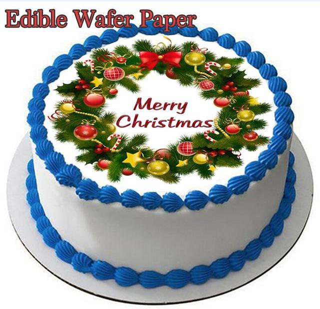 Terrific Christmas Image Edible Wafer Paper For Cake Decorating Topper Funny Birthday Cards Online Barepcheapnameinfo