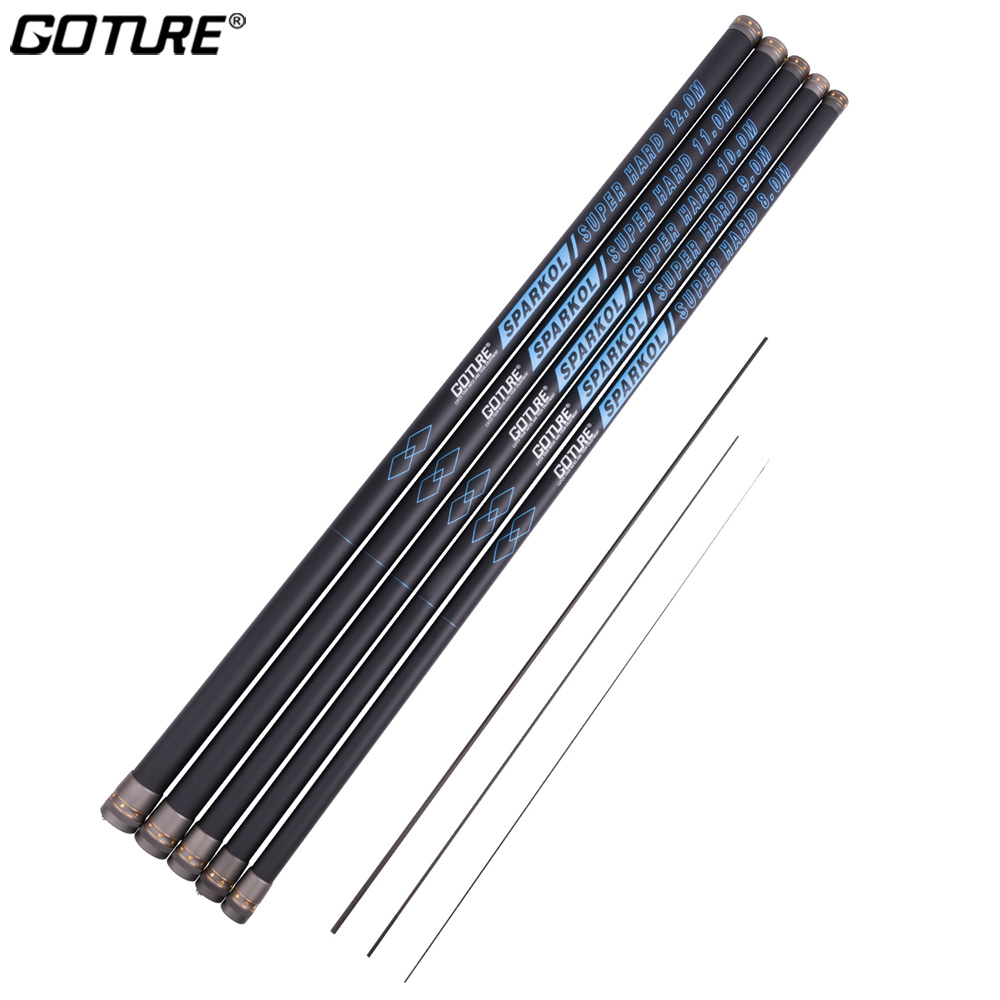 Goture Telescopic Fishing Rod Carbon 8M 9M 10M 11M 12M Stream Hand Carp Fishing Pole Freshwater Winter Fishing Rod Pesca Tackle юбка aurora firenze aurora firenze au008ewnja19