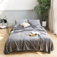 Embossed Plush Throw Blanket for Sofa, Couch or Bed Cuddly Shaggy Soft Warm Plush Faux Fur Blanket Bed sheet Cover Twin Queen