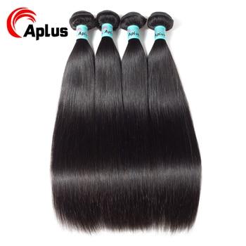 Aplus Hair Extensions Malaysian Straight Hair 4 bundles/lot  Non-Remy 100% Human Hair Extensions Bundles Deal Hair Fast Shipping