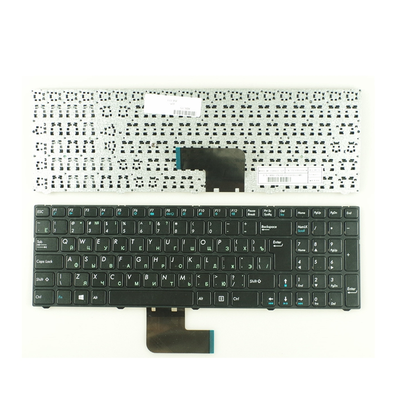 Russian RU Keyboard For DNS Pegatron C15 C15A C15E C17A C15B 0KN0-CN4RU12 MP-13A83SU-5283 0803498 KLAVYE PG-C1 Black With Frame