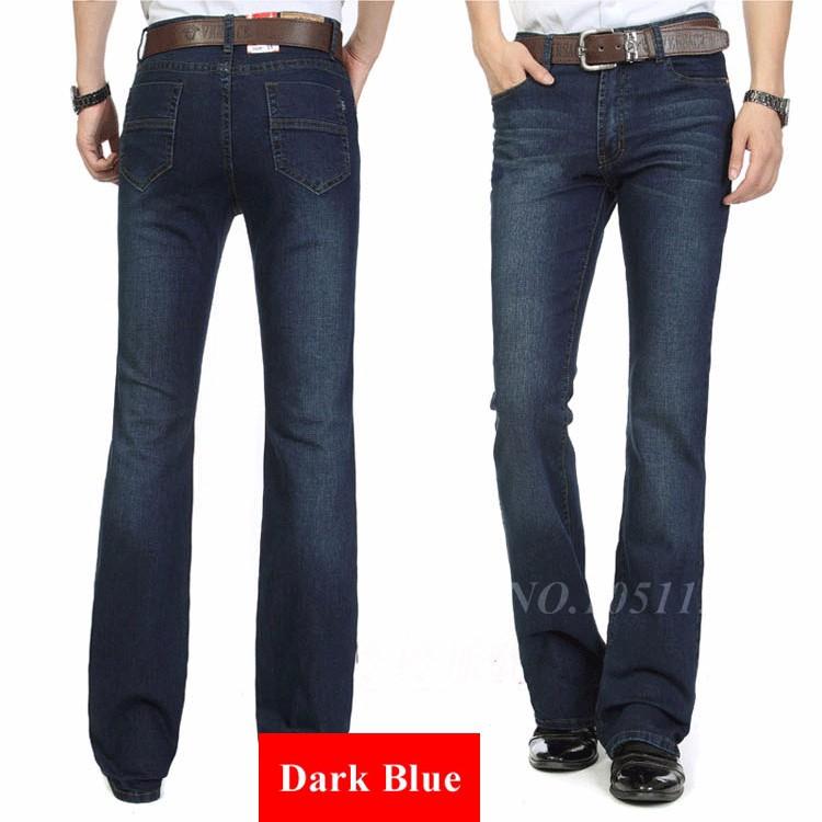 Fashion Winter Warm Mens Black Thicken Velvet Boot Cuts Casual Jeans Men Skinny Flared Jeans Bell Bottom Fleece Jeans 3Xl 4Xl 36 10