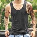 Новые Марка хлопок топы мужчины жилет Повседневная пляж танк топ футболки для мужчин бодибилдинг топы мышцы стрингер синглетного