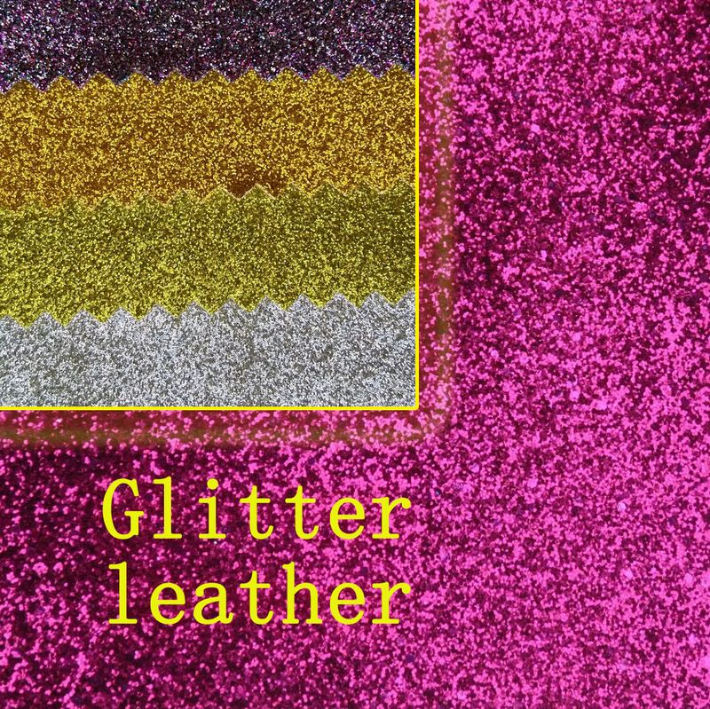 Hot sale synthetic pvc plain glitter leather fabric for for Fabric material for sale