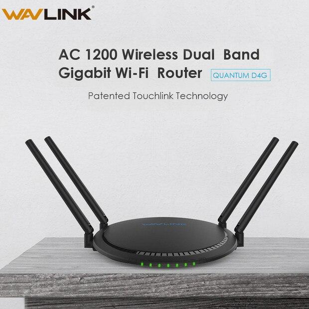 Wavlink AC1200 Touchlink Smart routeur WiFi double bande Gigabit 5 Ghz sans fil Ethernet TURBO bouton 2.4 Ghz répéteur 1200 Mbps 4x5dBi