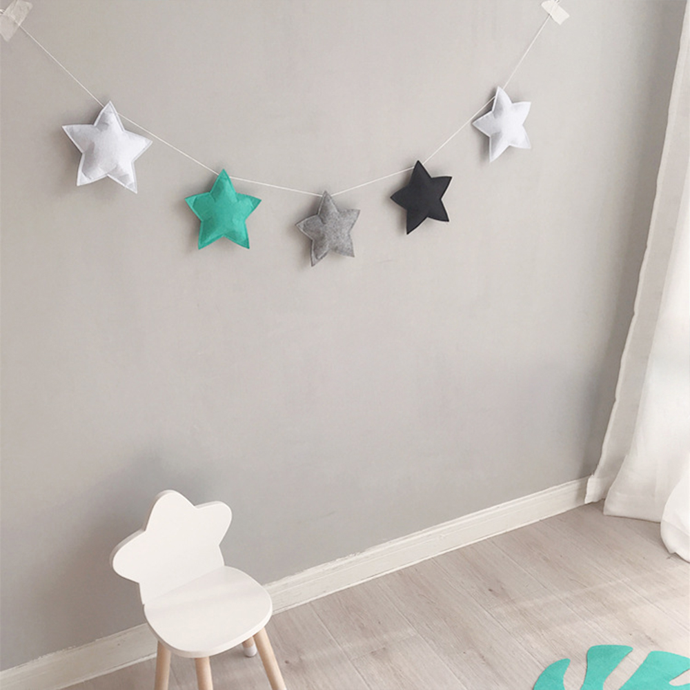 Baby Room Decor Star Bumper Nordic Ins Style Infant Crib Wall Hanging Decoration Tent Photography Props Newborn Baby Bumper
