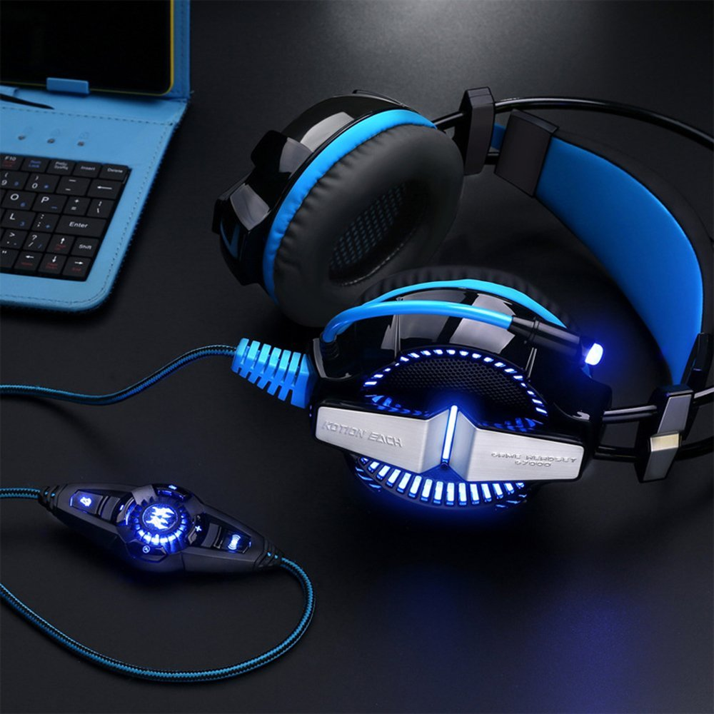 USB Wired Professional Surround Sound Gaming Headphones Microphone Stereo Headset Enhanced Bass Game Over-ear Earphone