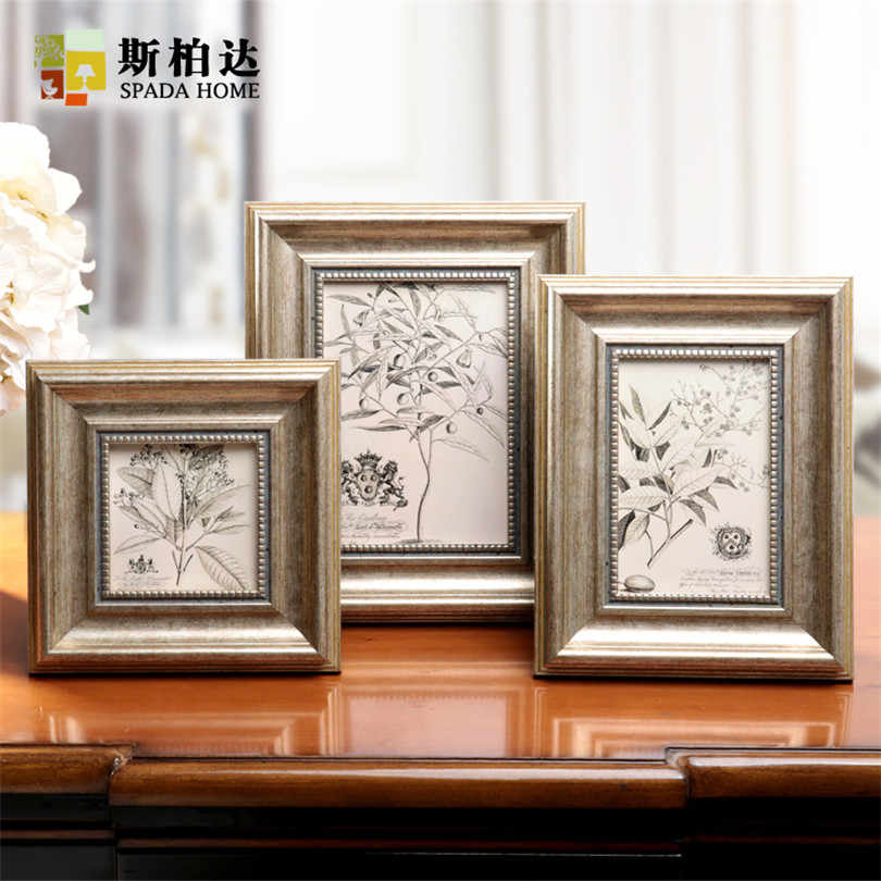 Photo Frame Vintage Cadre Photo Moderne Plastic Picture Frame Table Decor Photo Frame for Picture 4/6/7/10 Inch Moldura Para