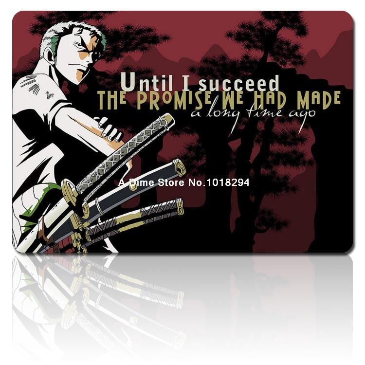 one piece mouse pad cool Roronoa Zoro mousepad laptop anime mouse pad gear notbook computer gaming mouse pad gamer play mats