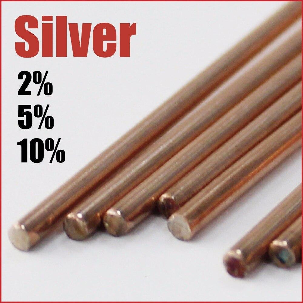 2% 5% 10% Argent Cuivre Phosphore Brasage Tiges bar mig tig soudage fil à souder le tiges bâton feuille en métal acier alliage