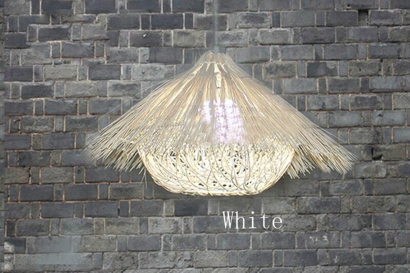 Plafoniere Vimini : Uccello di vimini casa pendente luci bar lampada d epoca rattan