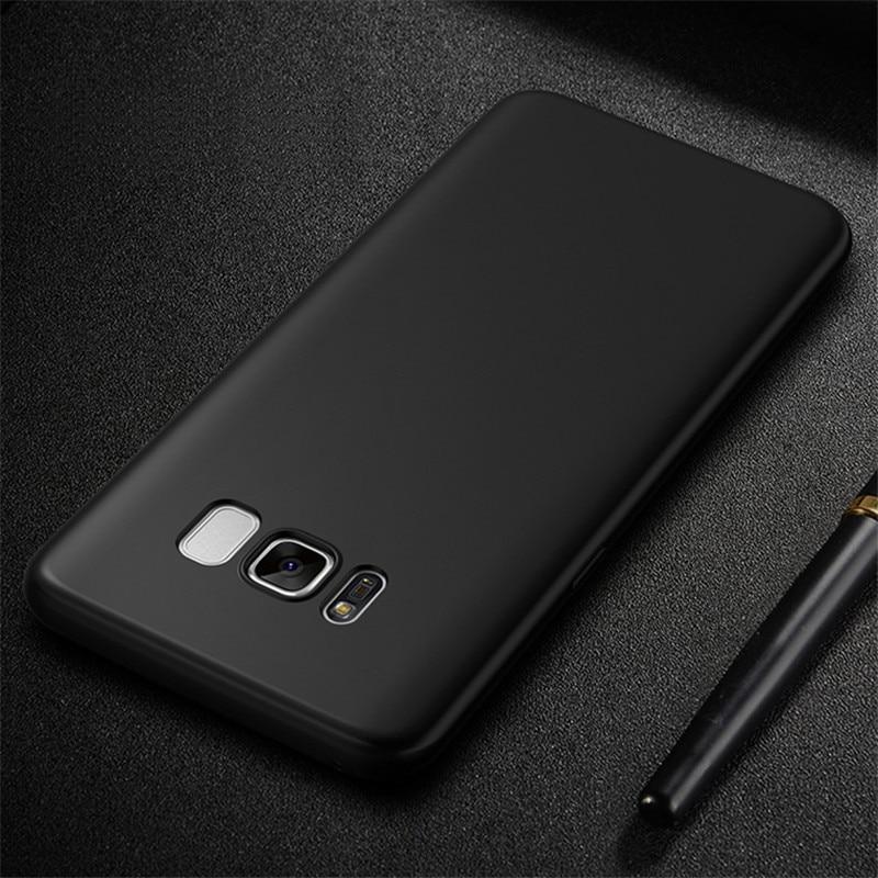 Ultra Thin Black Matte Soft Silicon Samsung Galaxy J3 J5 J7  A3 A5 A7   S6 S7 Edge S8 S9 Plus Case