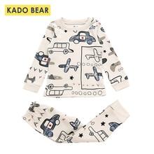 Детская Хлопковая пижама, комплекты пижамы для маленьких девочек пижамы для маленьких мальчиков с мультяшным автомобилем, детские пижамы, футболка+ штаны, зимняя одежда, комплект из 2 предметов