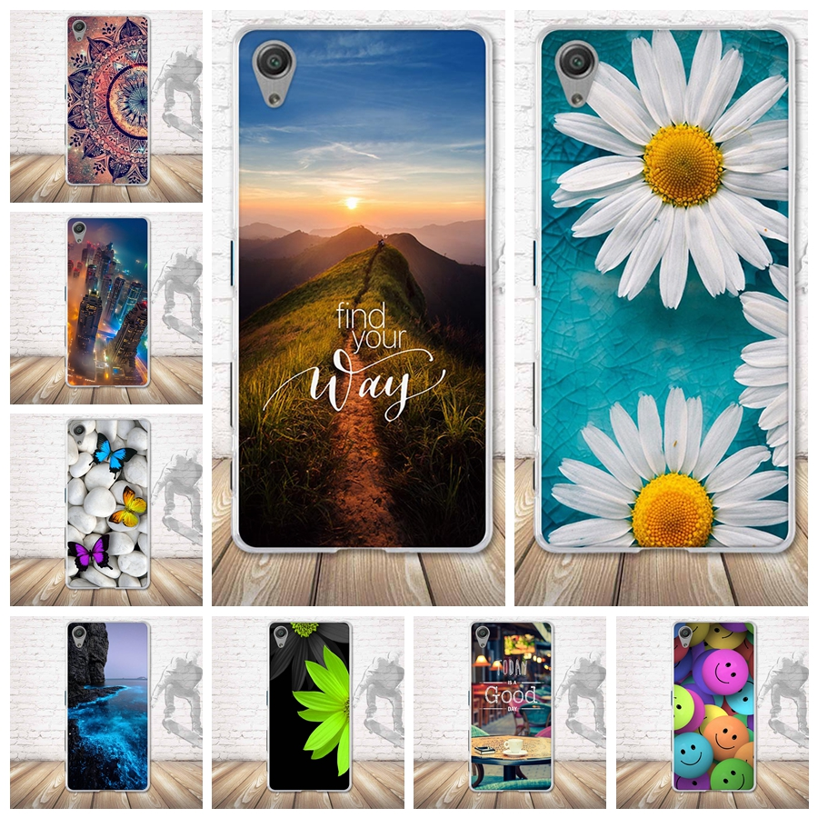 For Sony Xperia X Case Soft TPU Silicone Case Luxury Painting Back Cover For Sony Xperia X F5122 Cover Phone Protector Case Bags thumbnail