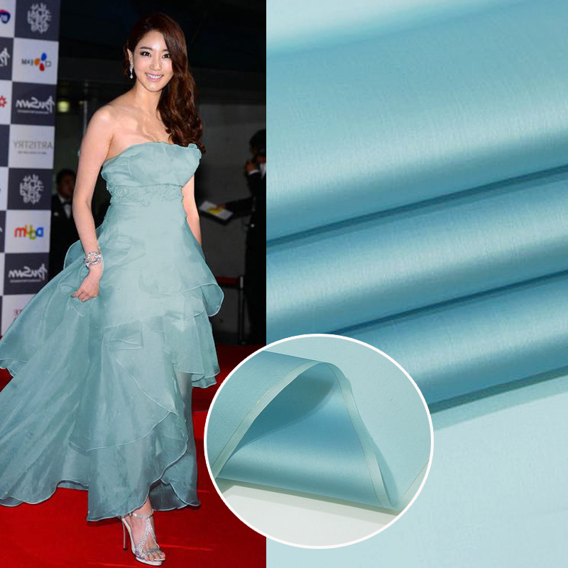 140 CM 12mm 100% soie organza large couleur unie soie satin soie tissu robe de mariée