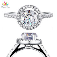 Drop Shipping Free 1 25 Carat Round Cut Simulated Diamond 925 Sterling Silver Wedding Engagement Ring