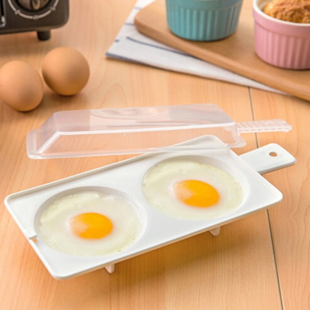 1pc Egg Poacher Sandwich Breakfast Plastic Material Tools Put Microwave Oven Kitchen Accessories Cooking