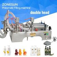 ZONESUN auto Filling Machine 10 300ml Horizontal Pneumatic double head essential oil filling machine, perfume filling machine