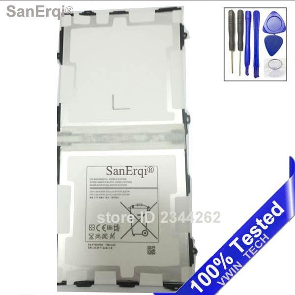 imágenes para 100% Probado EB-BT800FBE SanErqi Tablet Pc 7900 MAH Batería Para Samsung Galaxy Tab 10.5 S T800 T801 T805 Envío Gratis + herramientas
