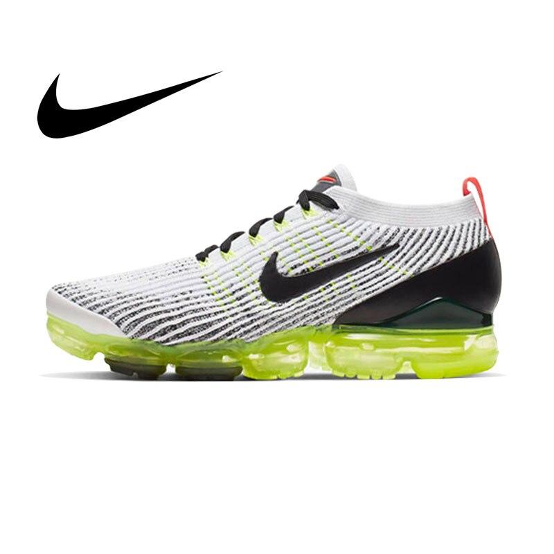 Original authentique Nike AIR VAPORMAX FLYKNIT 3 chaussures de course pour hommes absorbant les chocs respirant sport baskets de plein AIR AJ6900-100