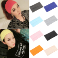 2016 Women Candy Color Wide  Headband Stretch Hairband Elastic Hair Bands Turban 8NXK